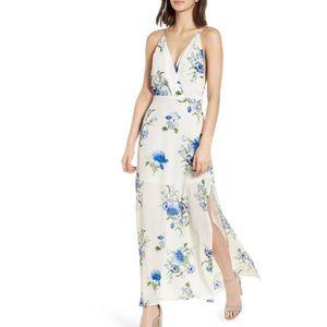 Lush surplice floral sleeveless maxi dress NWT